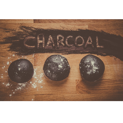 Charcoal dough balls